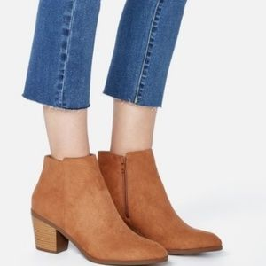 JustFab western ankle boot